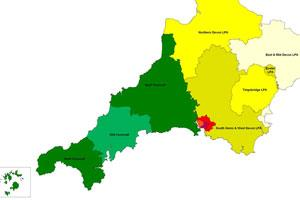 Map of Devon & Cornwall