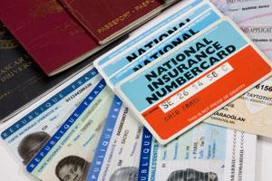 ID - passports - NI cards - Driving license