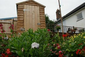 Wooden outbuilding