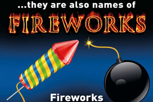 Fireworks are explosives plesae remember to treat with respect