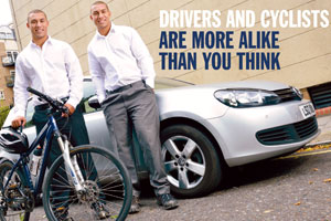 Driver and cyclist are more alike than you think