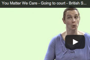 British sign language video - Going to court