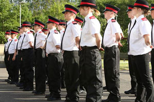 Police cadets on parade