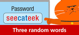 Use three random words to create your password