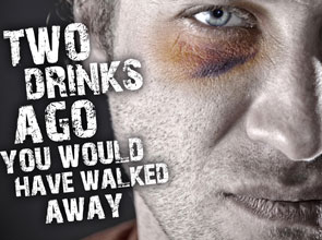 Two drinks ago you would have walked away sm