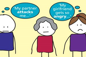 My partner attacks me, my girlfriend gets so angry