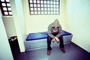 Person in a cell
