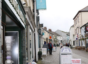 Wadebridge the main shopping area