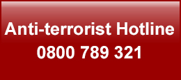 Anti-terrorist hotline 0800 789 321