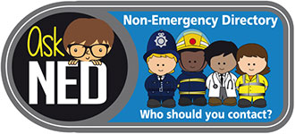 Ask NED logo the Non-Emergency Directory