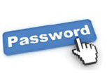 A picture of a word that says password