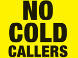 No cold callers