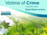 Victims of crime leaflet