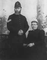 Sergeant Thomas Hall and his wife