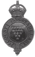 A king's crown 'garter' type badge of the Cornwall Constabulary