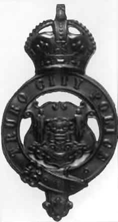 A constable's helmet plate