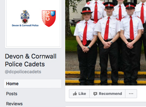 Police Cadets Facebook page