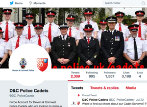 The Police Cadets Twitter feed page