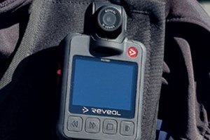 A police officers body worn video camera