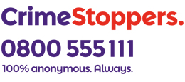 Crimestoppers 0800 555 111 100% anonymous. Always