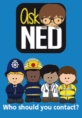 Non-Emergency Directory NED logo - Who Should you Contact?